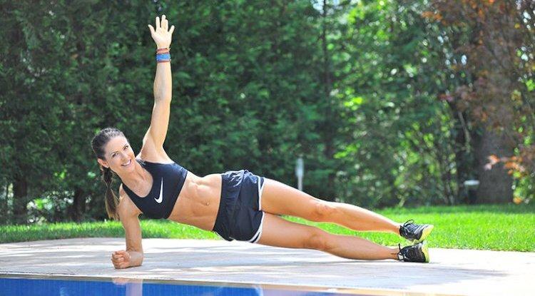 Heute werden Bauchmuskeln trainiert