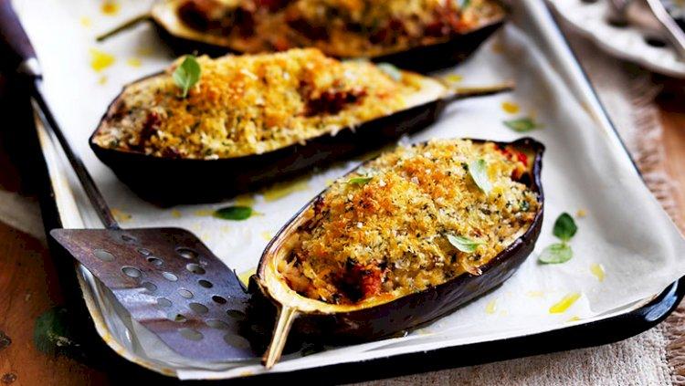Stuffed eggplants for Dinner